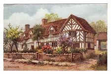 Mary Arden's House - Stratford On Avon Art Postcard c1930