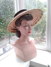 1940s/1950s Natural Straw Hat