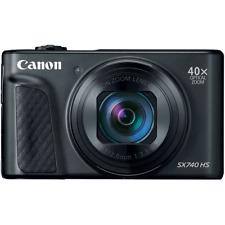 Canon PowerShot SX740 HS Digital Compact Camera: Black