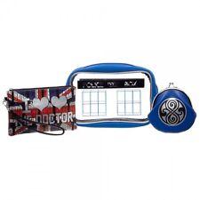 Doctor Who Gift Set Zipper Pouch Makeup Case Coin Purse Blue Tardis Box British