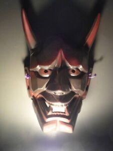 Noh Mask Demon Japanse Hannya oni kabuki kagura kyogen Vintage G4925
