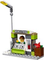 LEGO City News Stand Food & Drink Shop Kiosk & Minifigure Train Station 60197