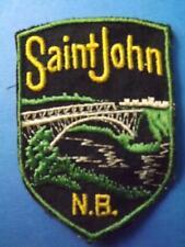 SAINT JOHN NEW BRUNSWICK  BRIDGE PATCH VINTAGE SOUVENIR CANADA COLLECTOR