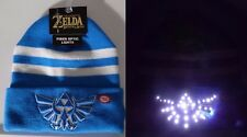 The Legend of Zelda Triforce Logo Nintendo Fiber Optic Lights Knit Cuff Hat Nwt