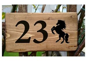 Personalised Horse Number House Name Plaque Sign Porch Conservatory