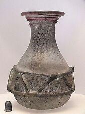 Molto RARA FIRMATO ORIGINALE RENATO Anatra VENEZIANA ROMANICHE scavo vaso di cristallo (No.1)
