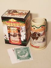 1996 Holiday Budweiser American Homestead Collectable Stein Anheuser-Busch
