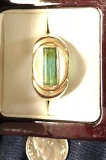 Vintage 14KT Mens Tourmaline (12.5mm) Ring 10.7 Grams