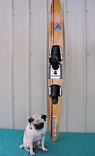"Vintage AMF Voit SX500 Lapstrake Wood Laminate Water Skis Slalom Ski 66"""