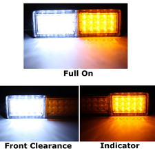 Pair Bullbar Front 30LED Position Indicator 12V Park Light Submersible Lamp