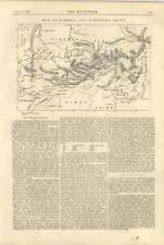 1900 The Siberian Railway, Map, Northern China Adams Express Steam Truck Diagram