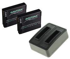 2 x Akku + Dual-Ladegerät für Panasonic Lumix DMC-TZ71, DMC-TZ61 - DMW-BCM13-E