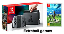 NINTENDO SWITCH GREY JOY-CON + the legend of zelda breath of the wild