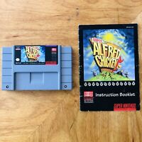 Super Alfred Chicken SNES Super Nintendo 1994 Cartridge Tested With Manual