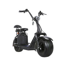 SoverSky Electric 2 seats Moped Bike Scooter Fat Tire Citycoco 2000w Lithium 20A