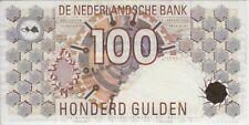 NETHERLANDS BANKNOTE P#101-9432 100 GULDEN 1992  AU