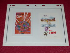 [COLLECTIONS AVIATION CHROMOS PUB] 2 FLYERS TWA Fly (15) Ca 1960/70 Suisse & N.Y