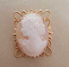Cameo Brooch Ornate Mount Beautiful Vintage Real Carved