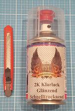 2K Klarlack Schnelltrocknend für Wassertransferdruck - Spraydose 250ml