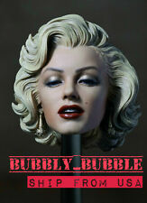 "1/6 Marilyn Monroe Head Sculpt 2.0 Painted For 12"" Hot Toys Phicen SHIP FROM USA"