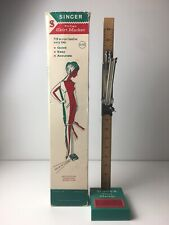 "Vintage Singer Skirt Marker 28"" Hem Measure Sewing Tool Built In Pin Cushion"