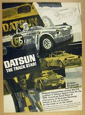 1969 Datsun Sports 2000 racing race car illustration art vintage print Ad