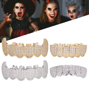 Silver Gold Grillz Plated Diamond Teeth Personality Decoration Hip Hop Cosplay