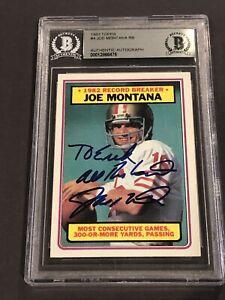 JOE MONTANA RB Signed 1983 TOPPS Card #4 Beckett Authenticated BAS