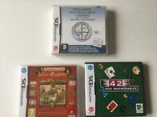 Lot de 3 jeux pour DS NINTENDO