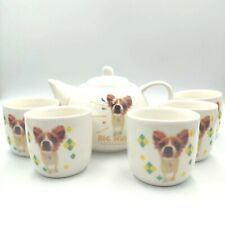 Hana Deka Club Yoneo Morita Japanese Tea Set Papillon Chihuahua Terrier Big Nose