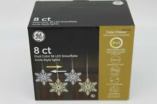 Ge Color Choice 8-Ct Color Changing Warm/Cool White Snowflake Led Icicle Light