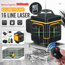 3D 12/16Line Green Light Laser Level Digital Self Leveling 360° Rotary Measuring