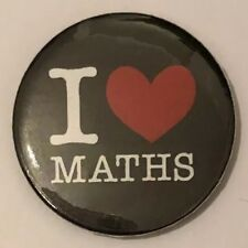 BUY 2 & GET 1 FREE - I Love Maths 25mm 1'' Pin Button Badge
