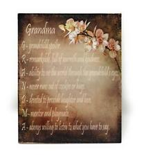 What Grandma Is Saying with Rose Background Wall Door Home Decor 4x5 Magnet Sign