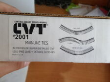 Central Valley Models 2001 HO Mainline Tie Strips (50) (Back Rm)