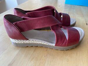 Sandalen von Gabor Gr. 5 (37,5) Leder Rot, wie neu