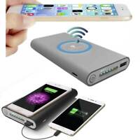 500000mAh Power Bank Qi Wireless Charging 2in1 USB Portable Battery Charger Case