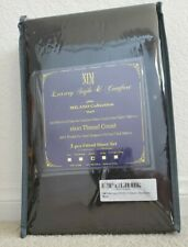 NIM Textiles Luxury 1600 Thread Count 3-pc Fitted Sheet Set Queen Black