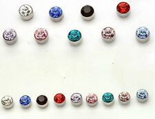 12 Pair Non Piercing Clip on Magnetic Magnet Ear Stud Mens Womens Fake Earrings
