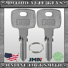 2 New Black Uncut Motorcycles Key For Various Models W/ Codes: 8001-4000 - Tmc1