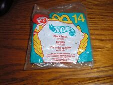 Nice Hot Wheels McD McDonld's Happy Meal toys #14 Black Track Exotic Race Car