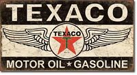 Texaco Motor Oil Sign Winged Logo Service Garage Gas Retro Decor Metal Tin Sign