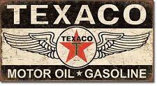 Texaco Motor Oil Sign Winged Logo Service Garage Gas Retro Decor Metal Tin Sign
