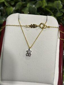 New!!!! Necklace Vermeil Gold 925 40 CM Choker ! Bear Súper Tiny Tiny 🐻