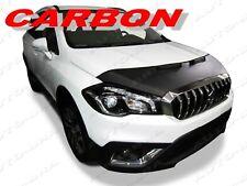 CARBON FIBER LOOK CAR HOOD BRA Suzuki SX4 S-Cross sinse 2017 FRONT END NOSE MASK