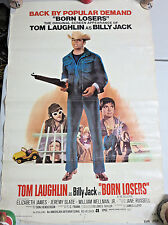 """BORN LOSERS 27""""x40"""" Theatrical One-Sheet 27""""x40"""" Poster First Billy Jack 1968"""