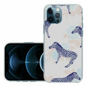 For iPhone 12, 12 Pro Silicone Case Cover Zebra Animal Pattern (S5726)
