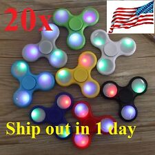 Wholesale Lot 20x LED Light UP Fidget Hand Spinner Finger Game  Kids Fun Toy 2