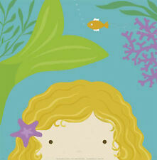 Peek-A-Boo Mermaid by Yuko Lau Childrens Print Poster 12.25X12