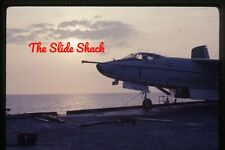 Vietnam War Us Navy A3D-2 Skywarrior on deck sunset Uss Kitty Hawk 1968 slide